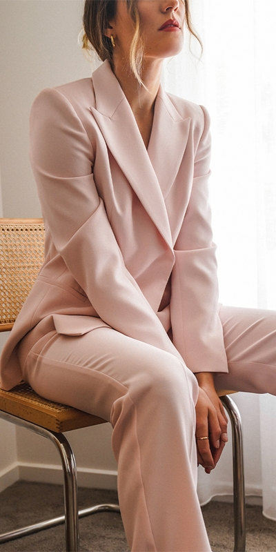 Pants | Pink Straight Leg Trouser