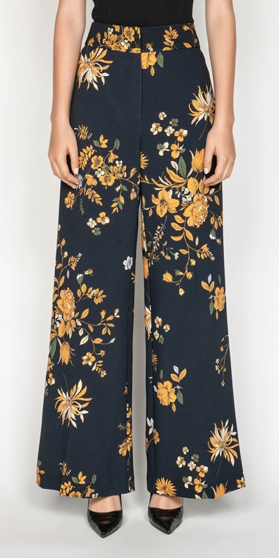 Pants | Golden Rose Wide Leg Pant