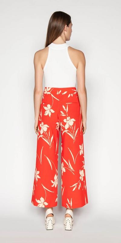 Pants | Iris Crepe Wide Leg Pant
