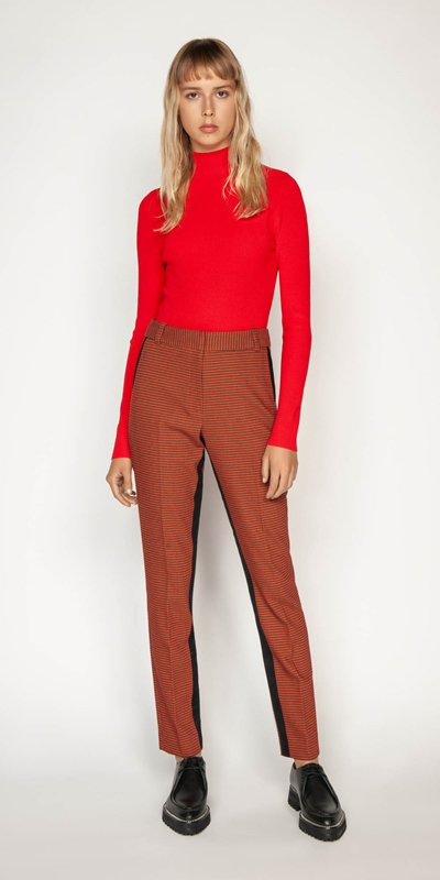 Wear to Work | Russet Check Skinny Pant