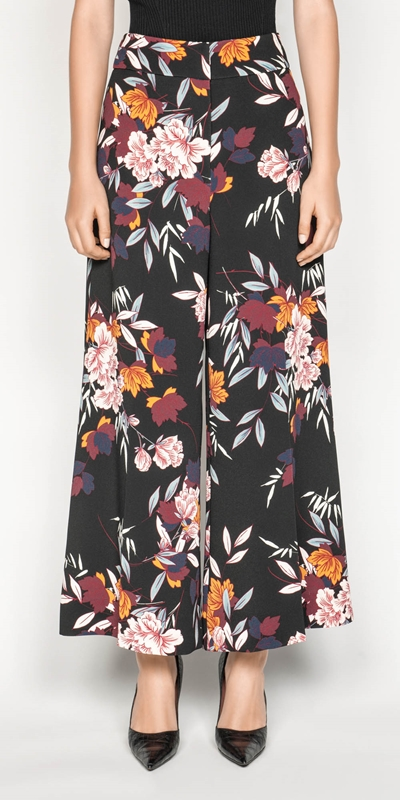 Pants  | Oriental Maple Print Pant