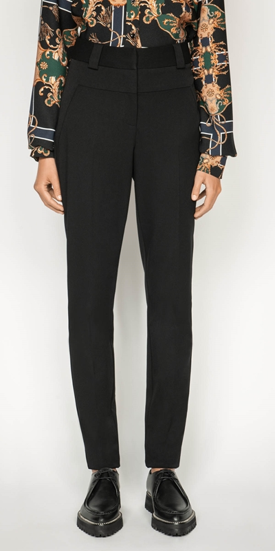Pants | Detachable Pleat Front Skinny Pant