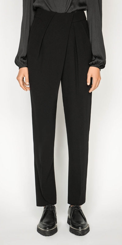 Pants | High Waisted Tapered Pant