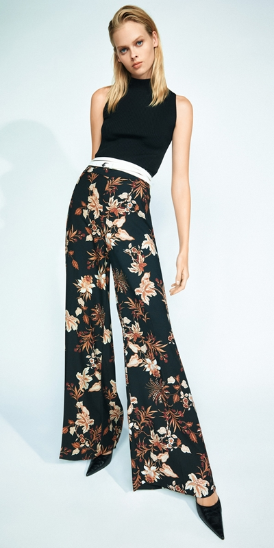 Made in Australia  | Paisley Floral Wide Leg Pant