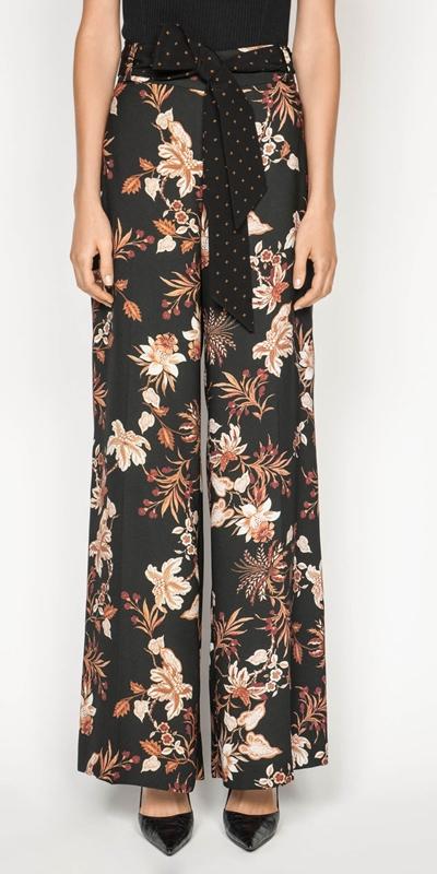 Pants | Paisley Floral Wide Leg Pant
