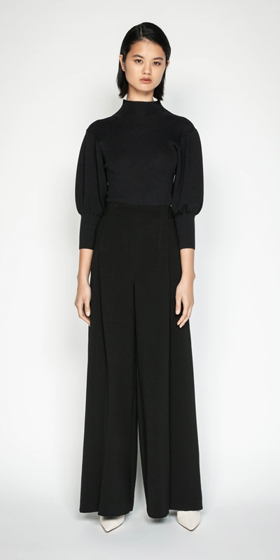 Work From Home | Crepe Wide Leg Pant