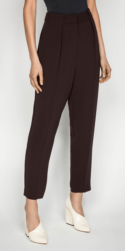 Pants  | Plum Split Cuff Tapered Pant