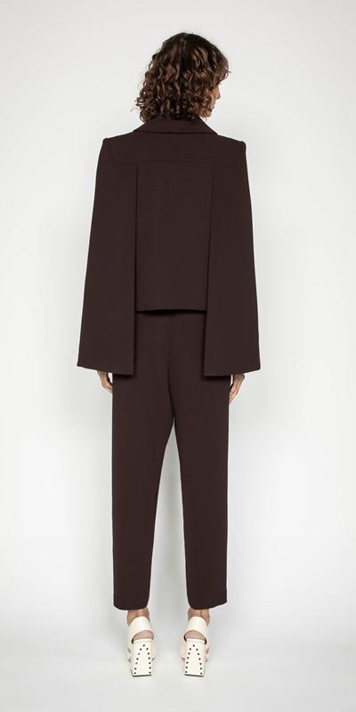 Pants | Plum Split Cuff Tapered Pant