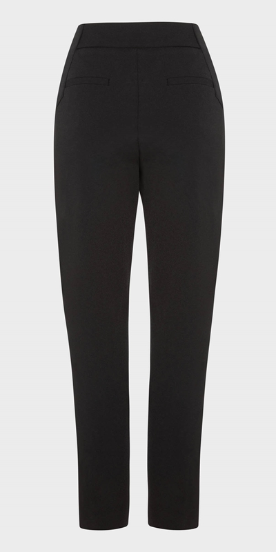 Work From Home  | Waisted Slim Leg Pant