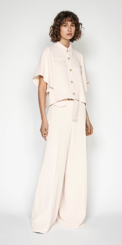 Wear to Work | Belted Wide Leg Pant