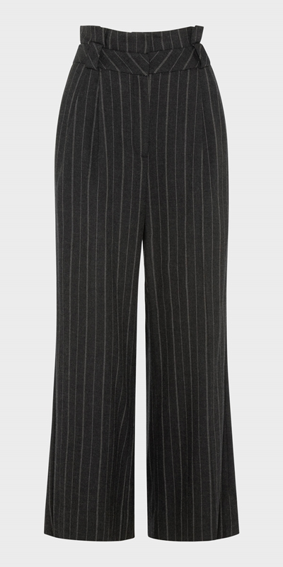 Wear to Work | Pinstripe Wide Leg Pant