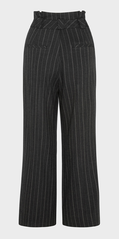 Work From Home  | Pinstripe Wide Leg Pant