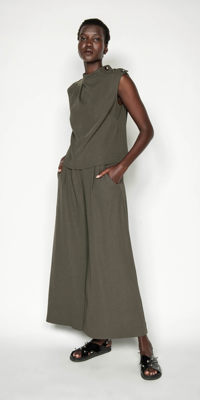 Sale | Drapey Wide Leg Pant