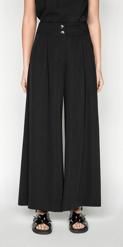 Pants | Drapey Wide Leg Pant