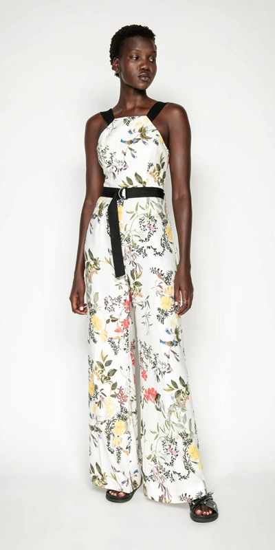 Pants | Botanical Print Jumpsuit