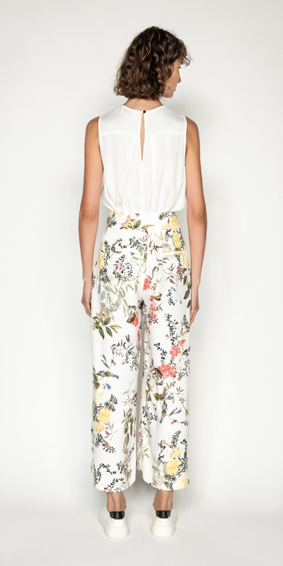 Pants | Botanical Print Crop Pant