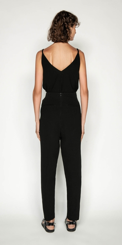 Pants | Crepe Tie Front Tapered Pant