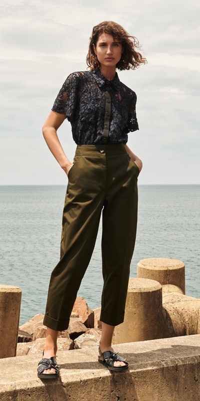 Made in Australia  | Topstitched Cropped Pant