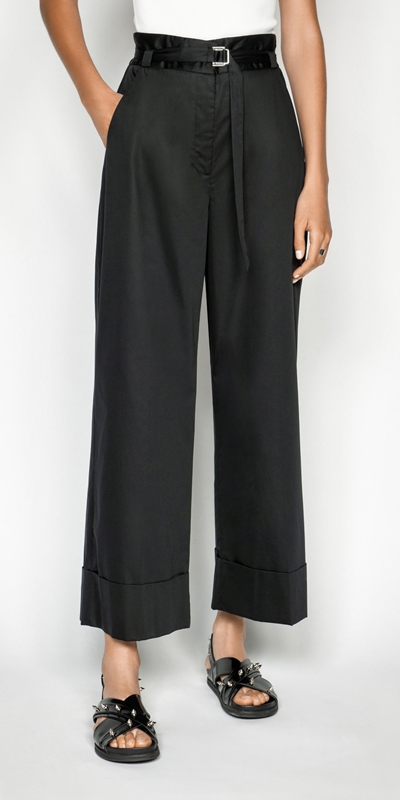 Made in Australia  | Cotton Belted Wide Leg Pant