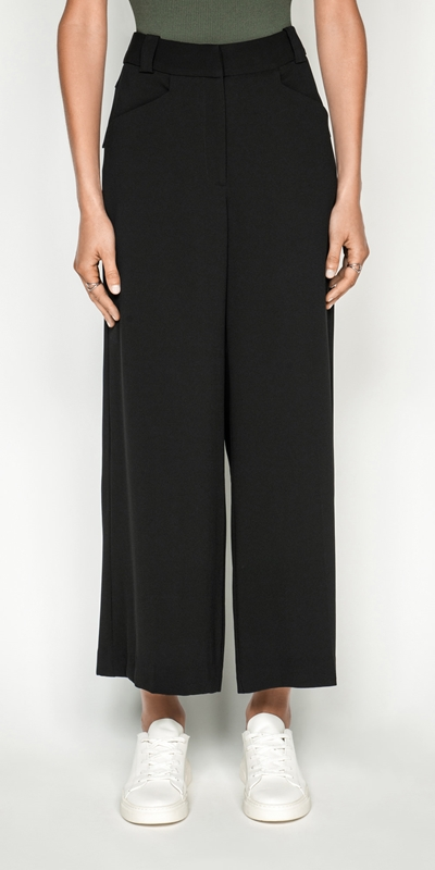 Sale  | Twill Wide Leg Pant