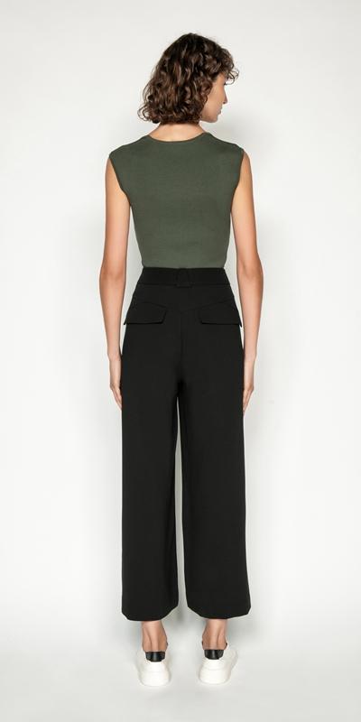 Pants | Twill Wide Leg Pant
