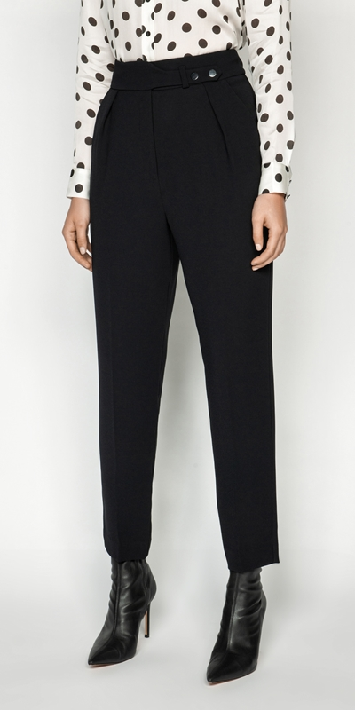 Pants  | Snap Front Slim Leg Pant