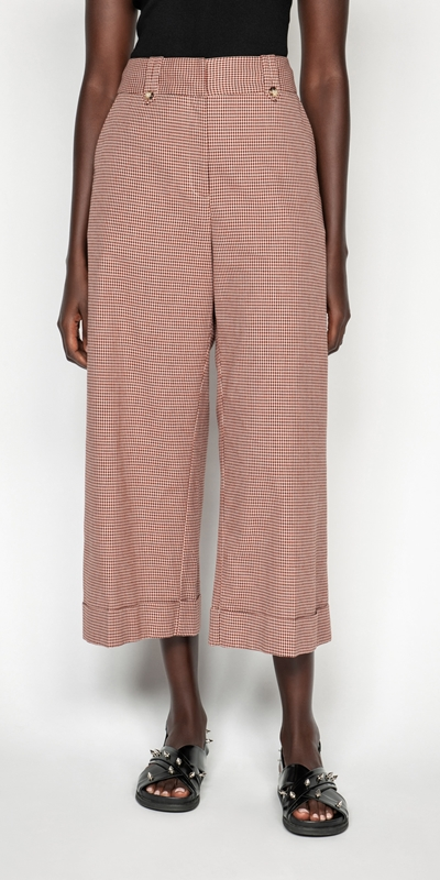 Made in Australia  | Cotton Linen Mini Check Pant