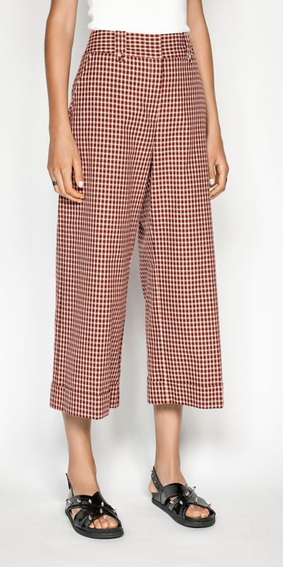 Made in Australia  | Cotton Linen Window Check Pant