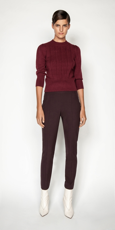 Pants | Plum Waisted Skinny Pant