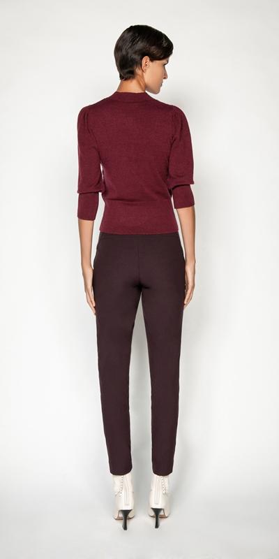 Pants | Plum Waisted Skinny Pant