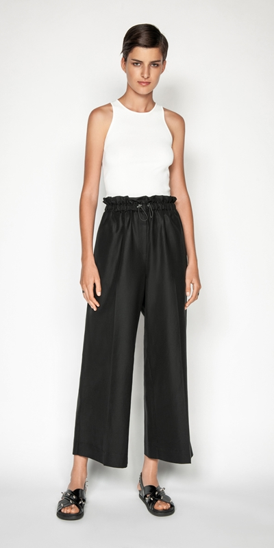 Pants | Cropped Toggle Waist Pant