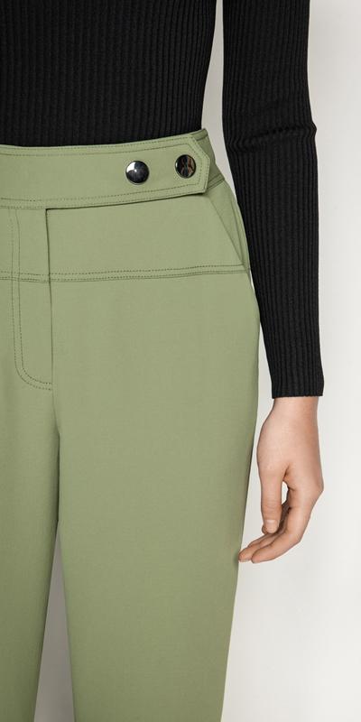 Pants | Khaki Drawstring Cuff Pant