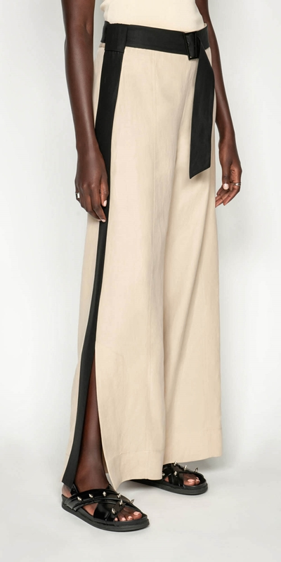 Made in Australia  | Sand Linen Blend Trouser