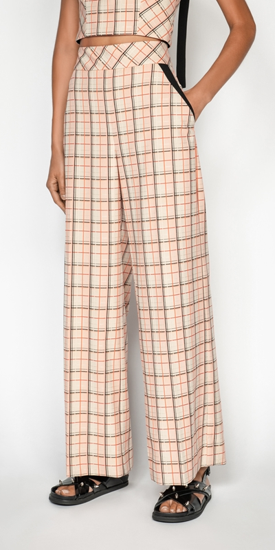 Made in Australia  | Window Check Wide Leg Pant