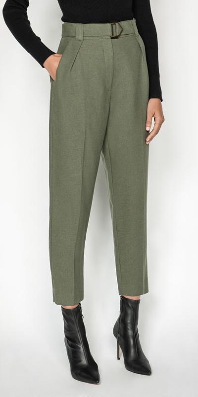 Pants | Linen Blend Slim Leg Pant