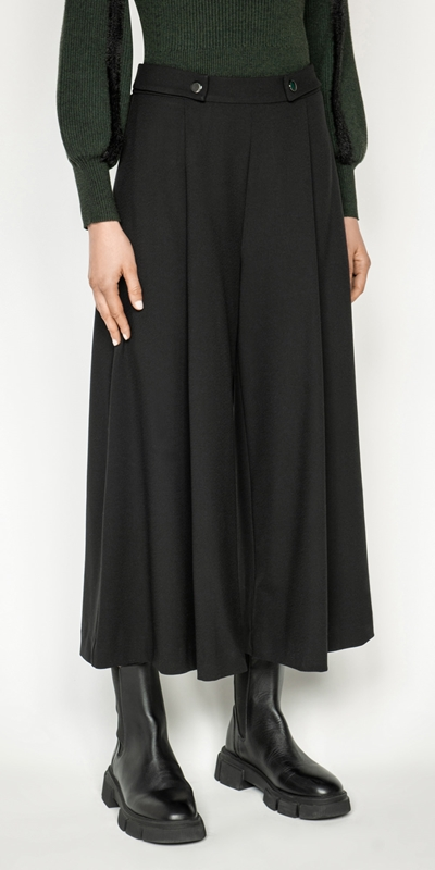 Pants  | Cropped Wide Leg Pant