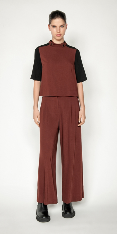 Cue Cares - Sustainable | Drapey Wide Leg Pant