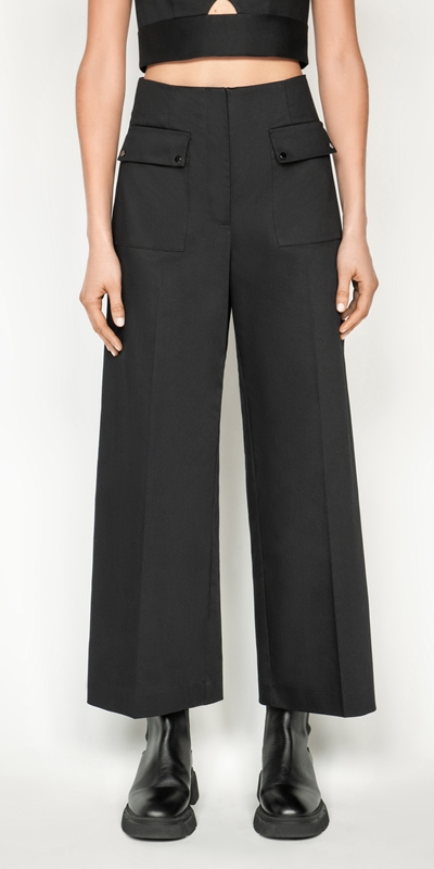 Pants  | Cotton Wide Leg Pant