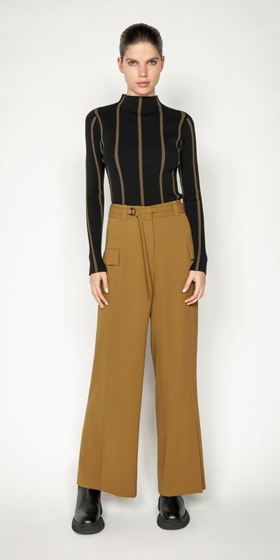 Sale | Front Split Wide Leg Pant