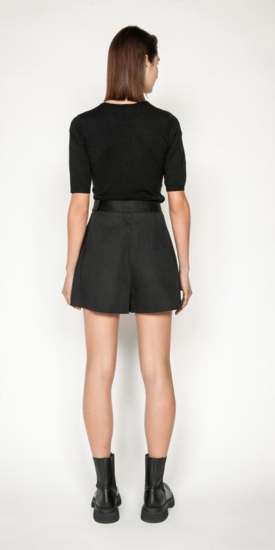 Pants | Cotton Asymmetric Short