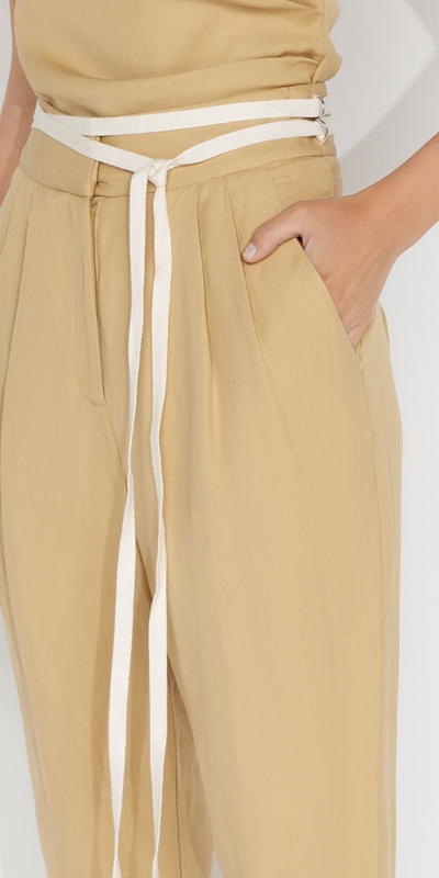 Pants | Waist Tie Tapered Pant