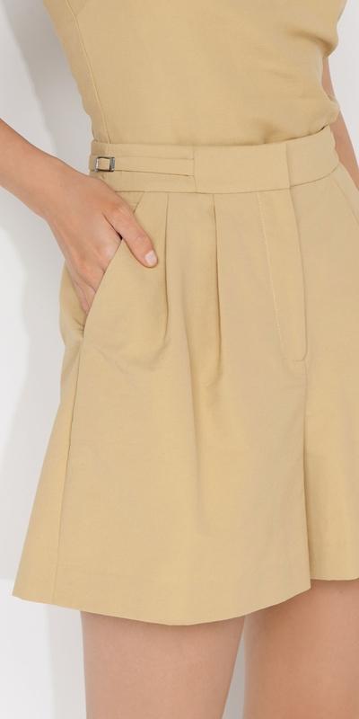 Pants | Pleat Front Short