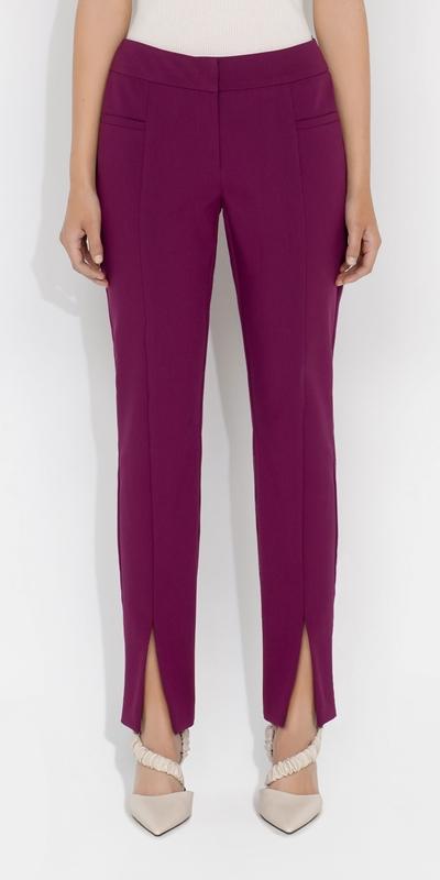 S21 Campaign  | Ultra Fuchsia Split Leg Skinny Pant
