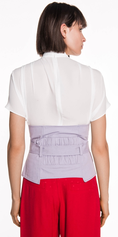Tops   Lilac Belted Corset