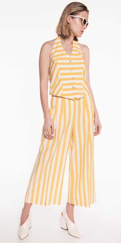 Curated | Linen Stripe Waistcoat