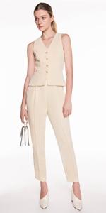 Tops | Soft Twill Crepe Waistcoat