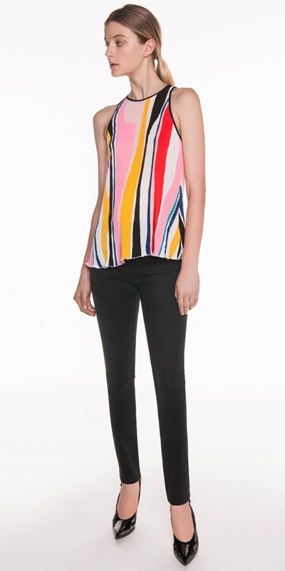 Sale | Bold Pleated Stripe Top