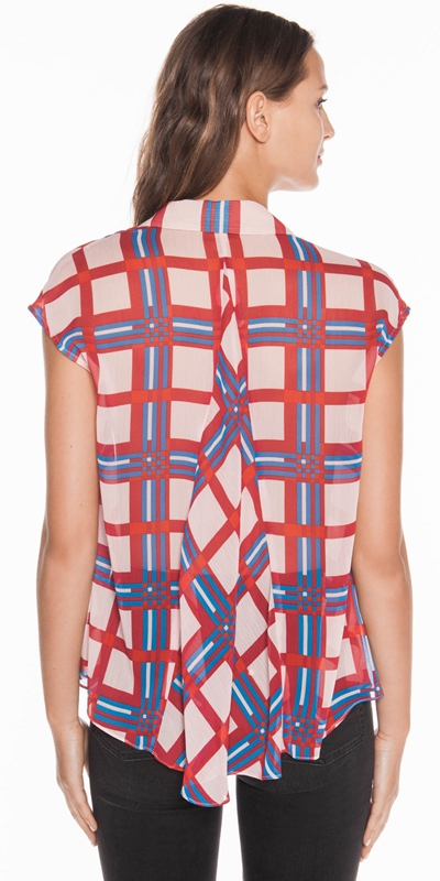 Tops | Crinkle Check Top