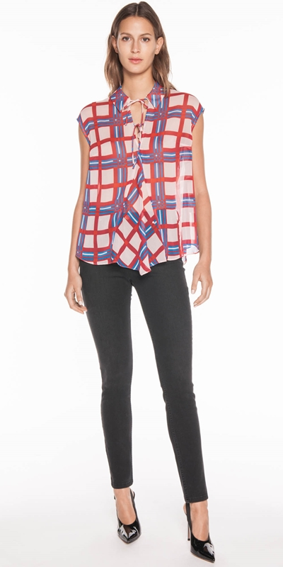 Sale  | Crinkle Check Top