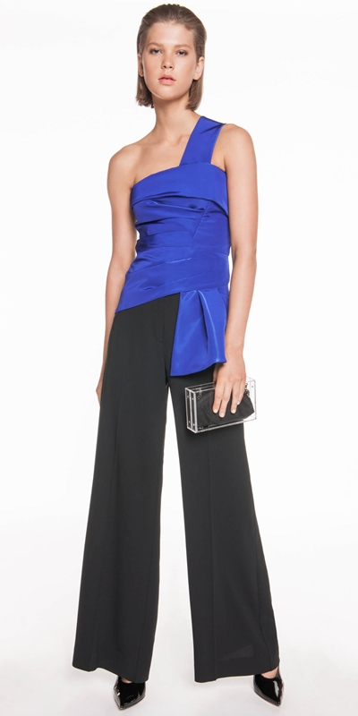 The Party Edit  | Cobalt One Shoulder Top